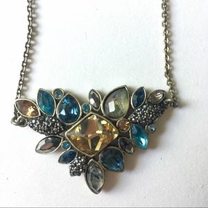 Chloe + Isabel Blue and Brown Stone Necklace Boho